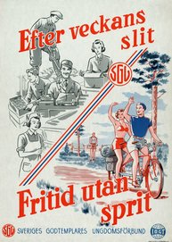 Affisch - Efter veckans slit – Fritid utan sprit