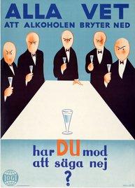 Affisch - Alla vet att alkoholen bryter ned