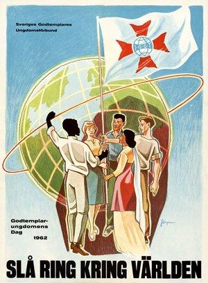 Affisch - Slå ring kring världen